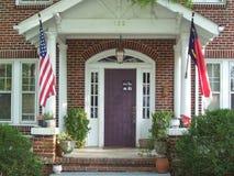 Porche avant sur la vieille maison Photographie stock