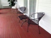Porche avec les chaises vides Photo libre de droits
