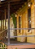 Porche avec une lumière Photos libres de droits