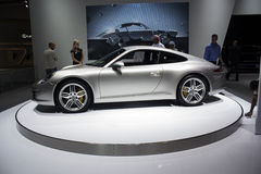 Porche 911 Carrera S side view Royalty Free Stock Image