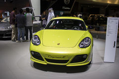 Porche Cayman R yelow Stock Image