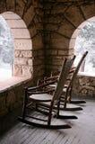 Porche confortable avec la neige photo libre de droits