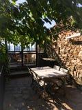 Porche dans le style méditerranéen français Images stock