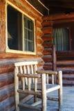 Porche de cabine de logarithme naturel photographie stock