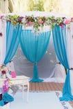 Porche de fête décoré Photos stock
