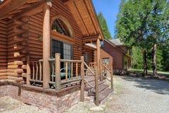 Porche de maison de logarithme naturel Photo stock