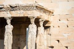 Porche des cariatides, Athènes photo libre de droits