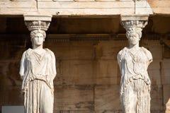 Porche des cariatides, Athènes images libres de droits