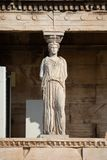 Porche des cariatides, Athènes photographie stock