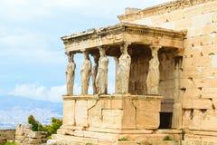 Porche des cariatides du temple du grec ancien d'Erechtheion photo libre de droits