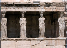 Porche du Karyatids photo stock