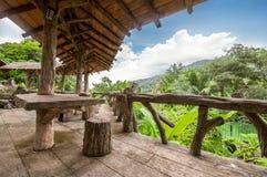 Porche en bois image stock