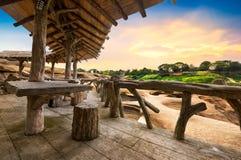 Porche en bois photographie stock