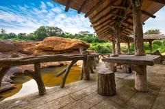 Porche en bois photos libres de droits