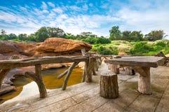 Porche en bois images stock