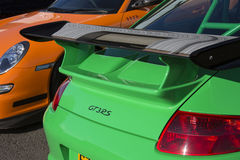 Porche GT3RS Sportscar Royalty Free Stock Photography