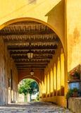 Porche médiéval italien, Toscane, Italie Image libre de droits