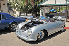 Porche Speedster. The actor James Dean was driving a car like this up the coast to Monterey to drive in a road race at Laguna Seca when he died in an accident Stock Image