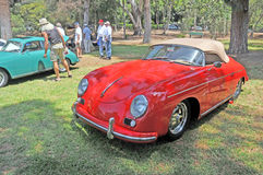 Porche Speedster. This Porche Speedster was a popular car with the sports car aficionados Royalty Free Stock Photo