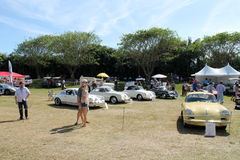 Porche sports cars at boca raton car event Royalty Free Stock Images