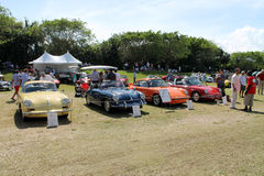 Porche sports cars at boca raton event Stock Photography