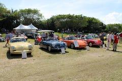 Porche sports cars at boca raton event Stock Photography