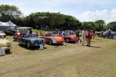 Porche sports cars at boca raton event Stock Image