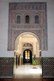 Porches in Alcazar stock images