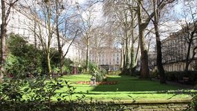 Porchester Square is an archetypal-format London garden. Square in Bayswater, the district lining the north of Hyde Park at a point where it blends into stock video