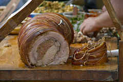 Porchetta Stockfotos