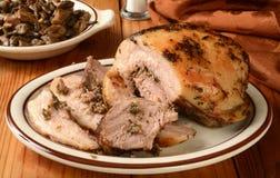 Porchetta grisköttstek Arkivbilder