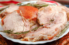 Porchetta - italian pork roast Royalty Free Stock Images