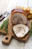 Porchetta, italian roast pork Royalty Free Stock Images