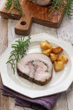Porchetta, italian roast pork Royalty Free Stock Photo