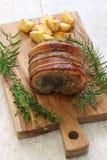Porchetta, italian roast pork Stock Photos