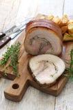 Porchetta, italienischer Schweinebraten Lizenzfreie Stockbilder