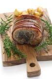 Porchetta italienskt stekgriskött Arkivbild