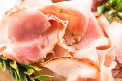 Porchetta, prosciutto arrostito Immagini Stock Libere da Diritti