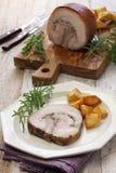 Porchetta, rôti de porc italien Photos stock