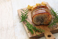 Porchetta, włoska pieczona wieprzowina Obraz Stock