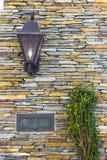 Porchlight und Post-Schlitz Lizenzfreies Stockbild