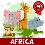 1 porción Animales de África Fotos de archivo