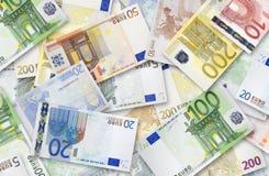 Porción de billetes de banco euro Imagen de archivo libre de regalías