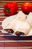 Porción de burrito Imagen de archivo libre de regalías