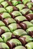 Porción de caramelos del chocolate Imagen de archivo