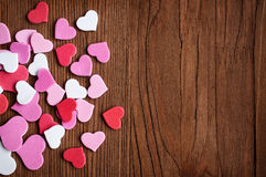 Porción de corazones rosados Fotos de archivo
