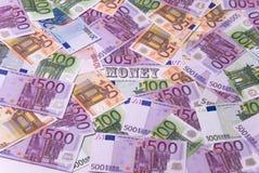 Porción de dinero Imagen de archivo libre de regalías