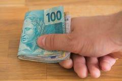 Porción de dinero de Brazilan foto de archivo libre de regalías
