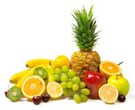 Porción de frutas frescas aisladas Fotografía de archivo libre de regalías