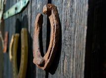 Porción de herradura antigua del hierro Imágenes de archivo libres de regalías